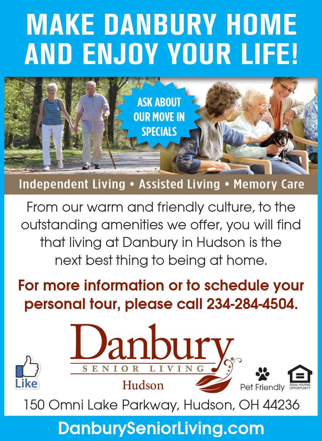 Move In Specials Available Danbury Assisted Living