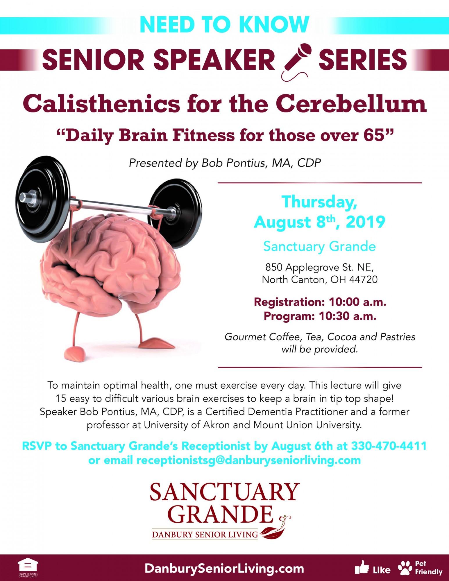 Calisthenics For The Cerebellum Danbury Assisted Living