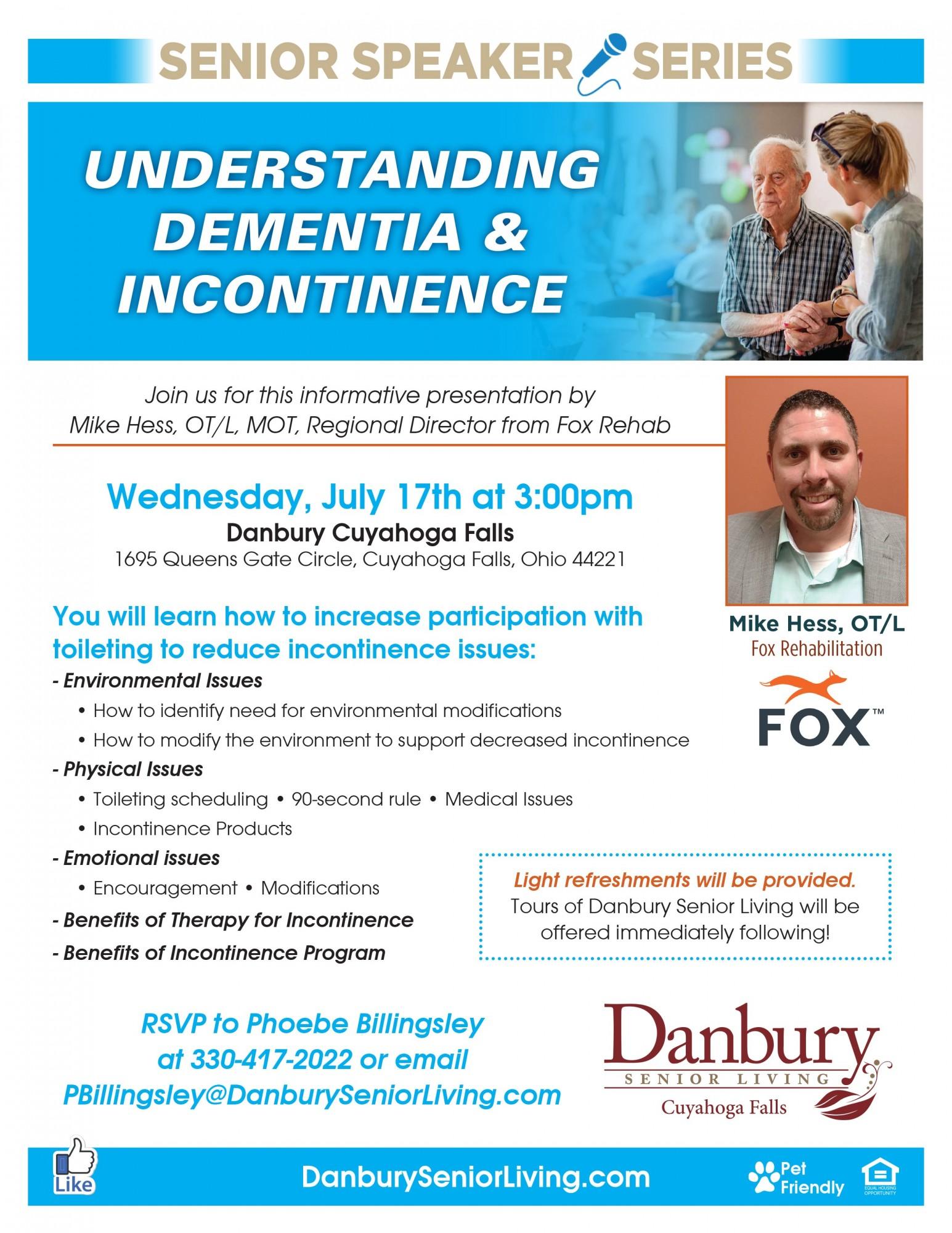 Senior Speaker Series Quot Understanding Dementia