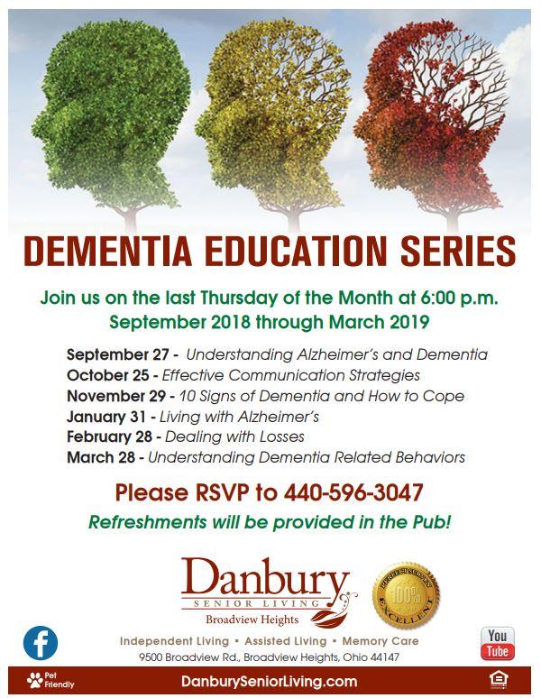 Dementia Education Series Danbury Assisted Living