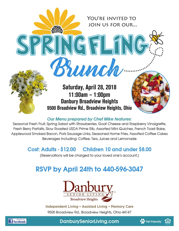 Spring Fling Brunch Danbury Assisted Living