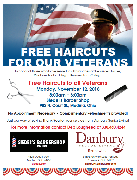 Free Haircuts For Veterans Danbury Assisted Living