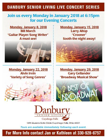 Live Concert Mondays In January Danbury Assisted Living