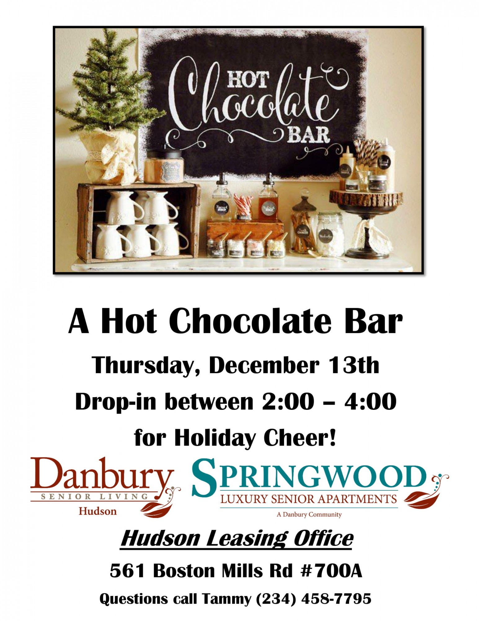 Hot Chocolate Bar Danbury Assisted Living