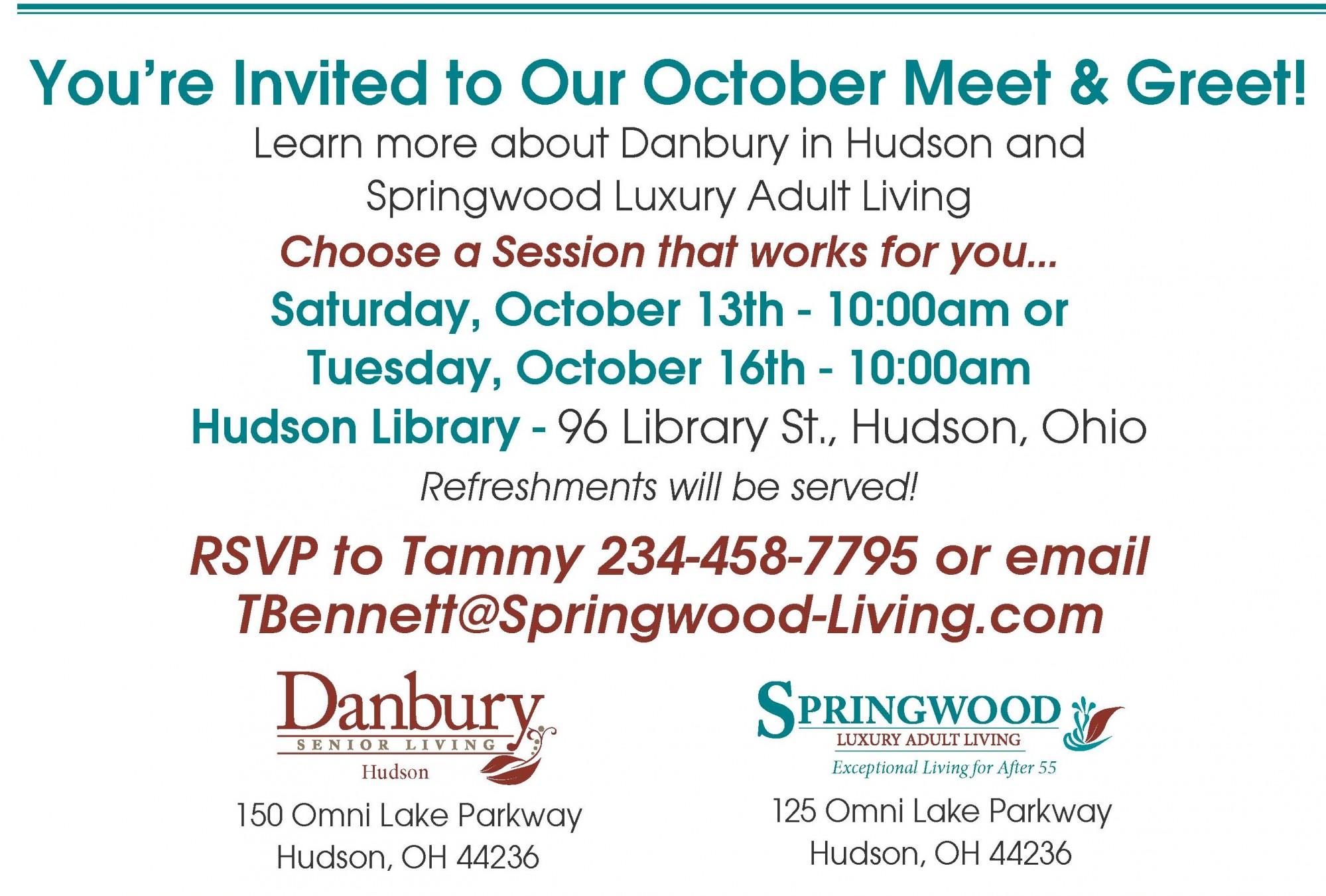 Meet Greet Danbury Assisted Living