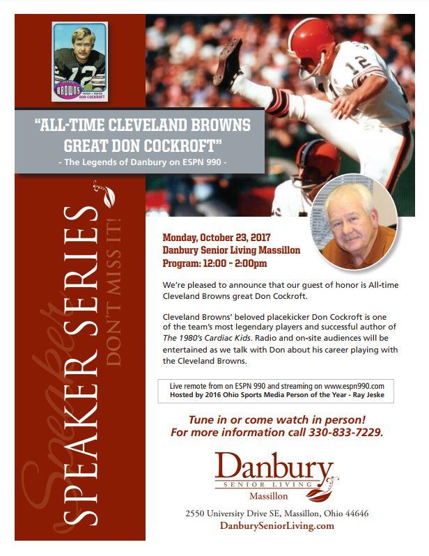ESPN Live Broadcast - Speaker Series - Danbury Assisted Living