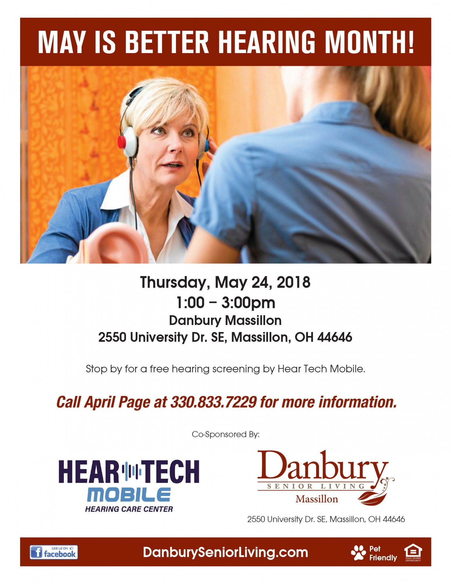 May Is Better Hearing Month Danbury Assisted Living