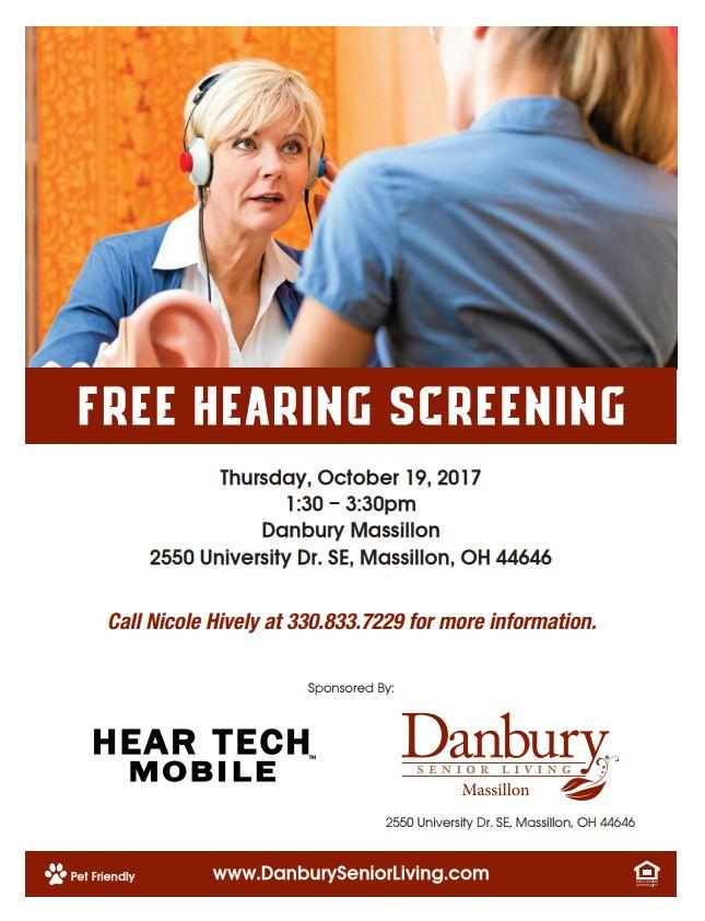 Free Hearing Screening Danbury Assisted Living