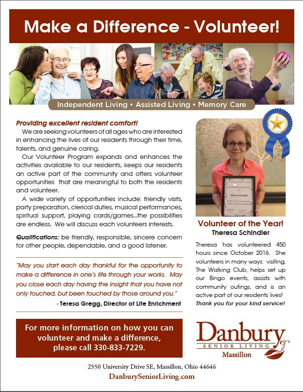 Make A Difference Volunteer Danbury Assisted Living