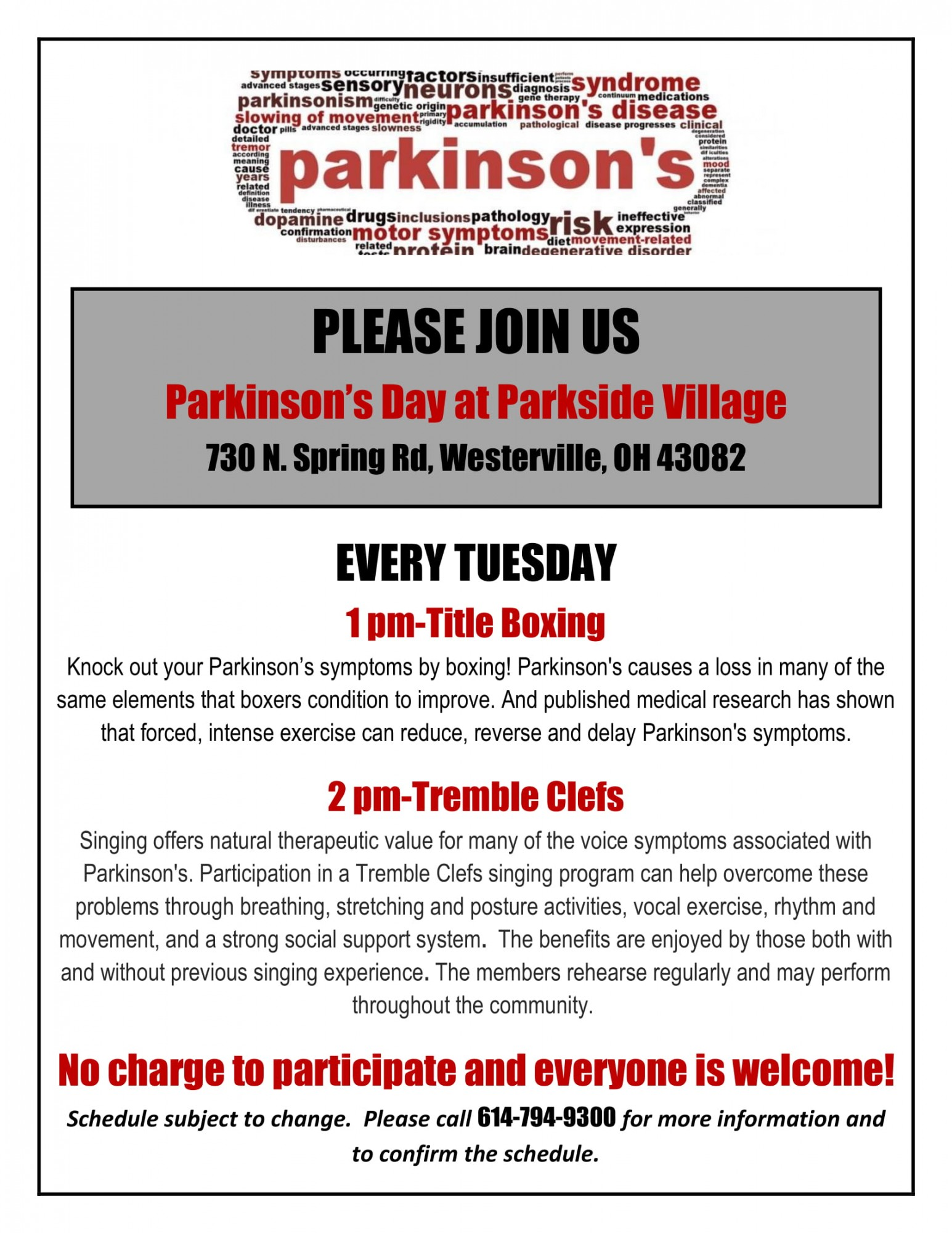 Parkinson S Day At Parkside Danbury Assisted Living