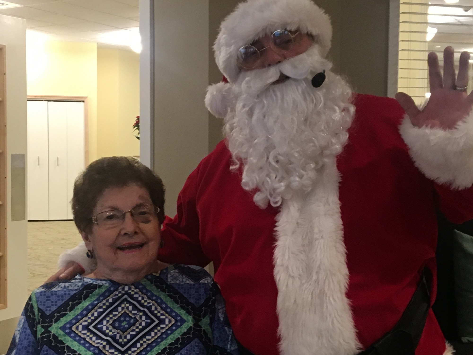 Santa Showed Up Early Danbury Assisted Living