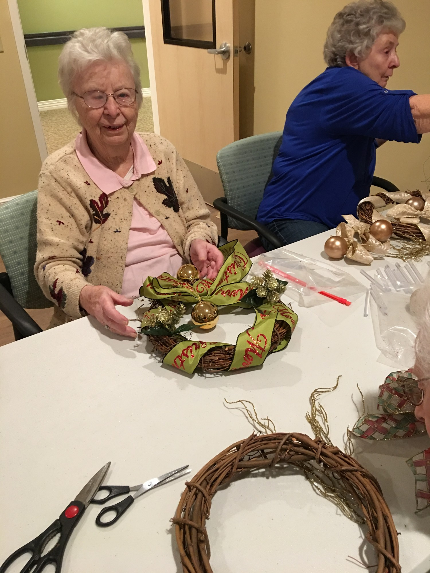 Wreath Making With Becky Fletcher Danbury Assisted Living
