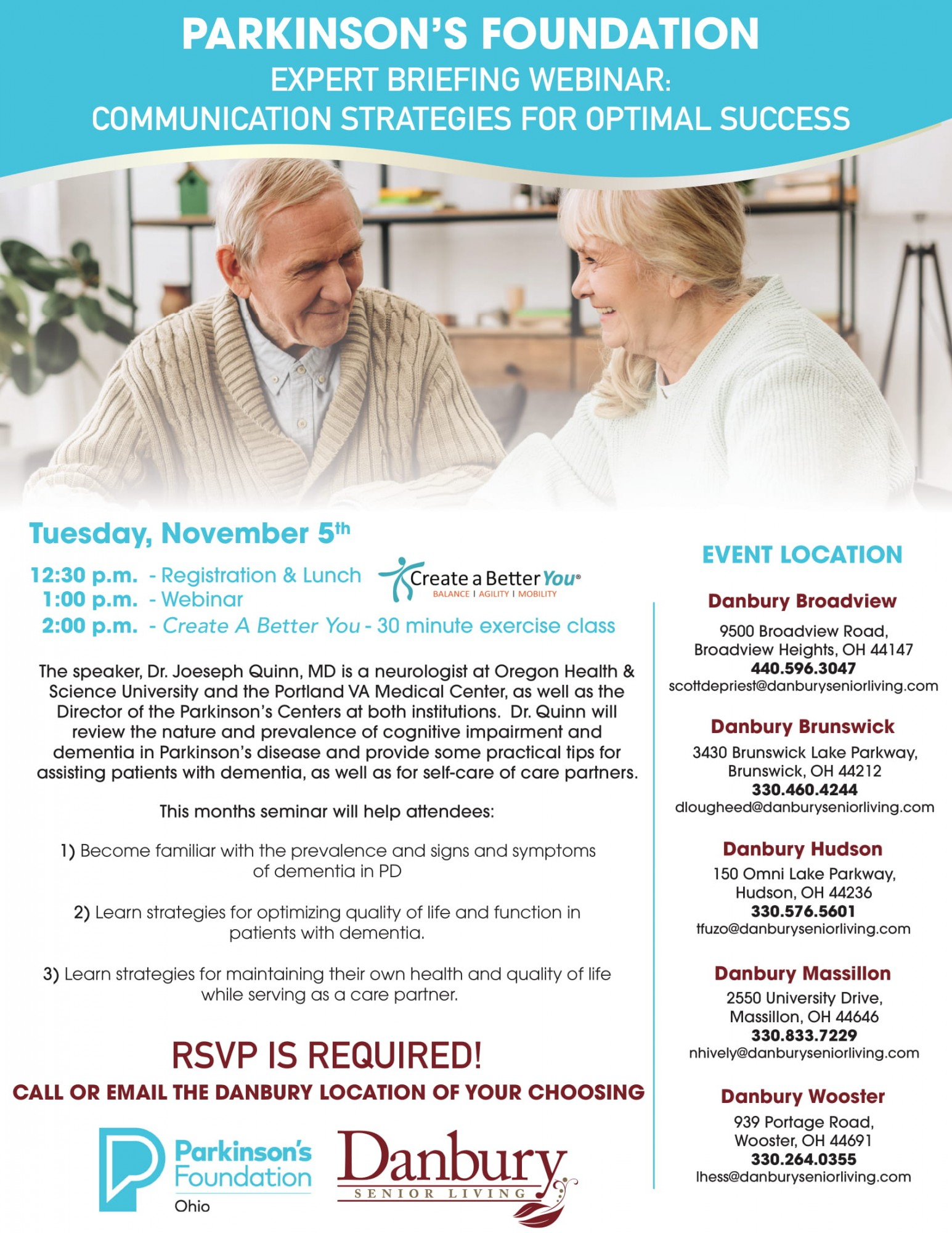 Parkinson S Foundation Expert Briefing Webinar Danbury