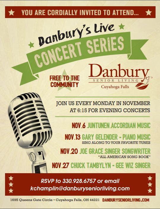 Danbury S Live Concert Series Danbury Assisted Living