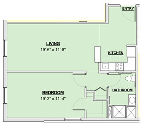 Bayberry - 1 Bed, 732 sq ft | Danbury Senior Living Sanctuary Grande