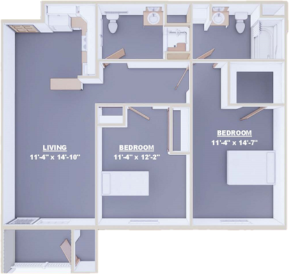 Magnolia Two Bed 960